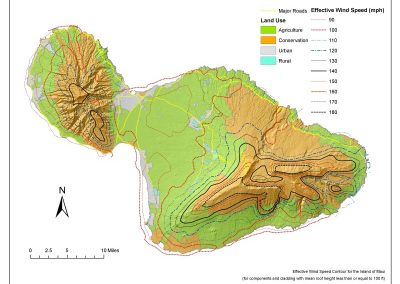 Wind Design Mapping For Use In the County of Maui Building Code