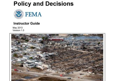 National Disaster Preparedness Training Center – Integrating Science into Emergency Management Policies and Decisions